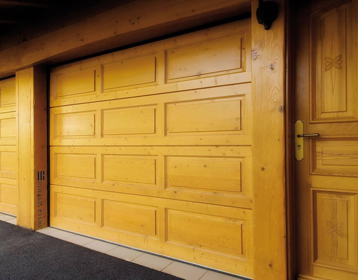 Porte de garage sur mesure dl menuiserie - Porte garage sur mesure ...